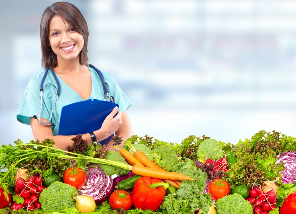 Doctor with Healthy Food